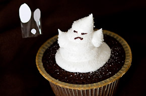 Cupcakes fantasma para Halloween