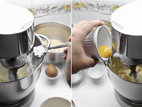añadimos el azúcar y el huevo
