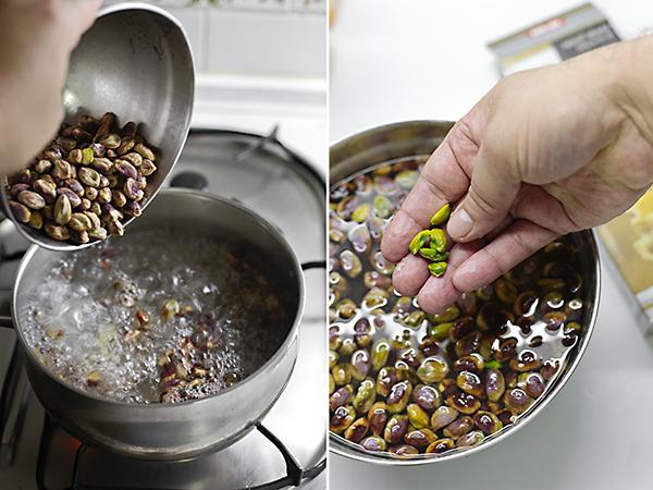 pelamos los pistachos