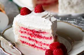 Angel Food Cake para Navidad