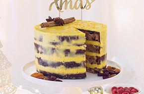 Fruit cake con crema suiza de naranja y jengibre... y un poco de inspiración