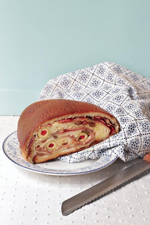 Pan de jamón y queso 2
