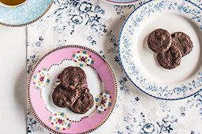Galletas shortbread de chocolate