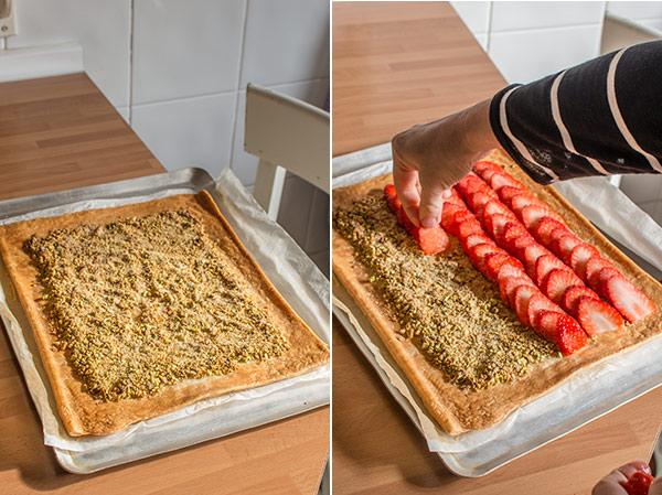 tarta fresas pistachos