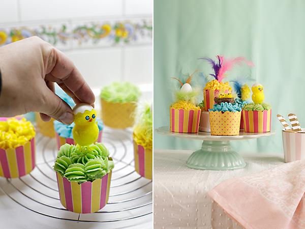 decoramos los cupcakes