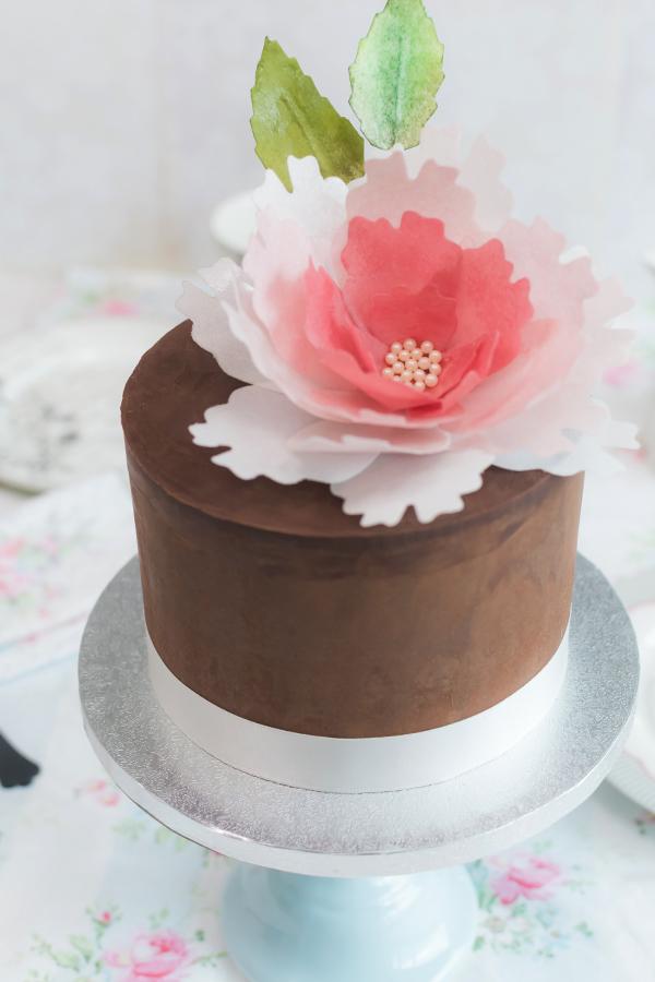 Chocolate Buttercream Cake With Ganache
