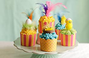 Receta de cupcakes para Pascua