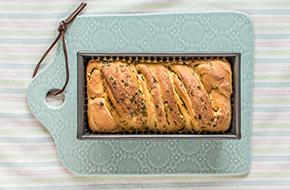 Pan enrollado de pesto