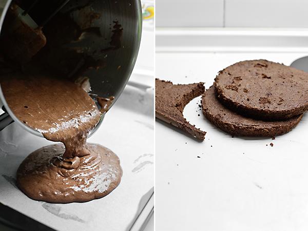 hacemos una genovesa de chocolate