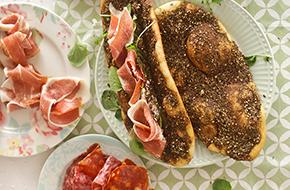 Pan de tomillo libanés: manakish