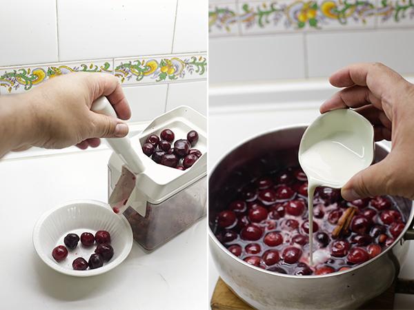 hacemos las cerezas en almíbar