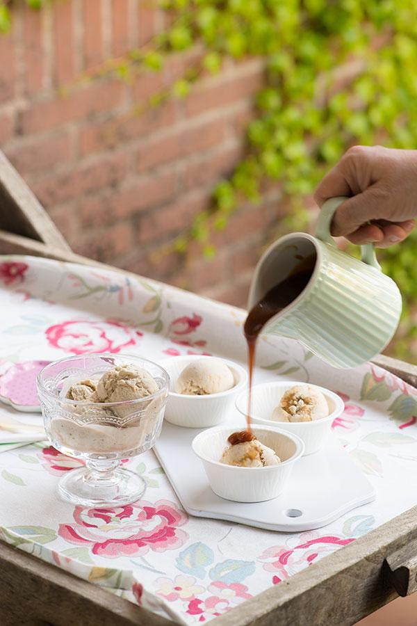helado platano caramelo