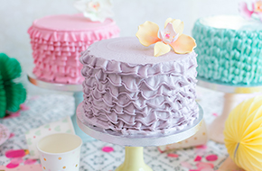 Vídeo-tutorial: Cómo hacer ruffle cakes o tartas con volantes