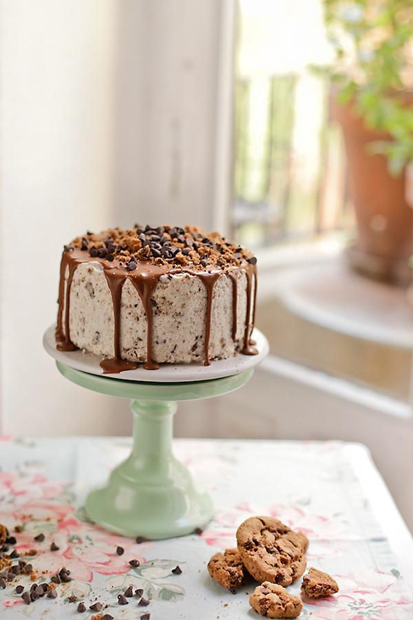 Tarta de helado de vainilla y chocochips 1