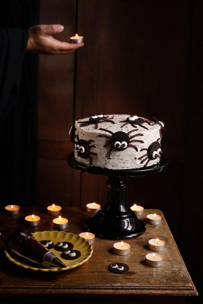 Receta de tarta de arañas oreo 1