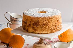 Chiffon cake de naranja