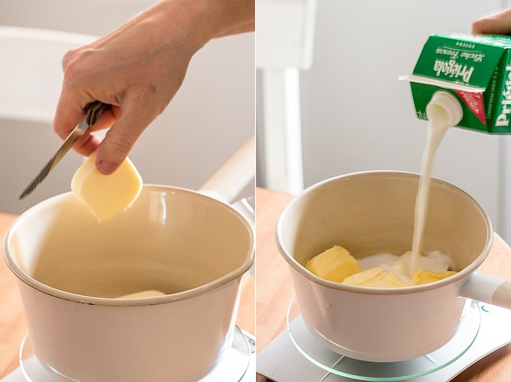 receta bizcocho leche caliente