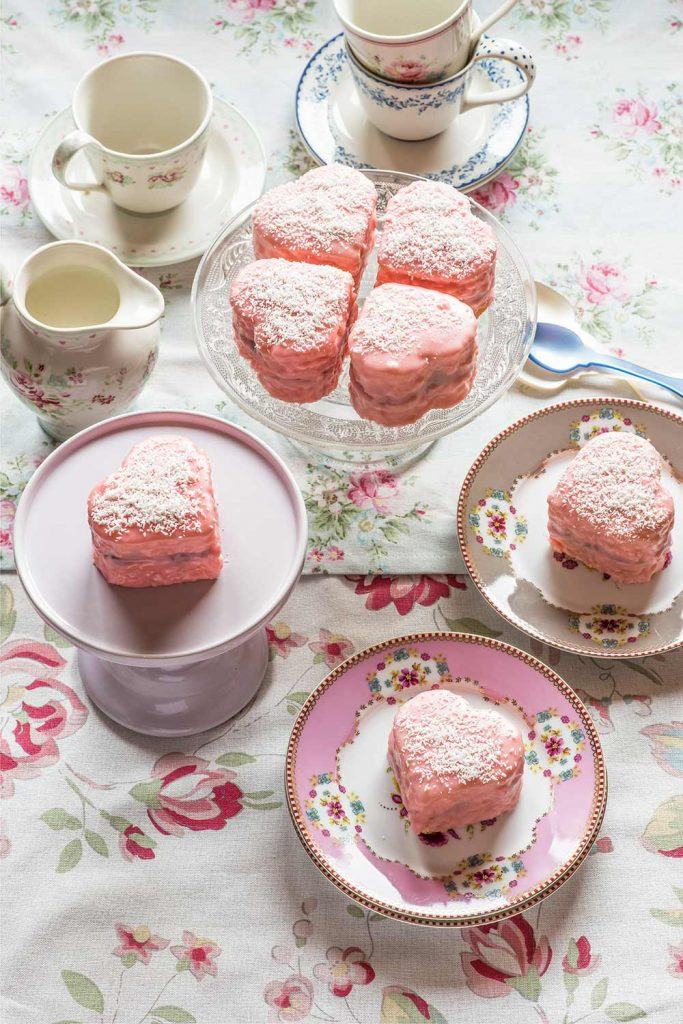 receta lamingtons corazon