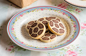 Galletas sablés leopardo
