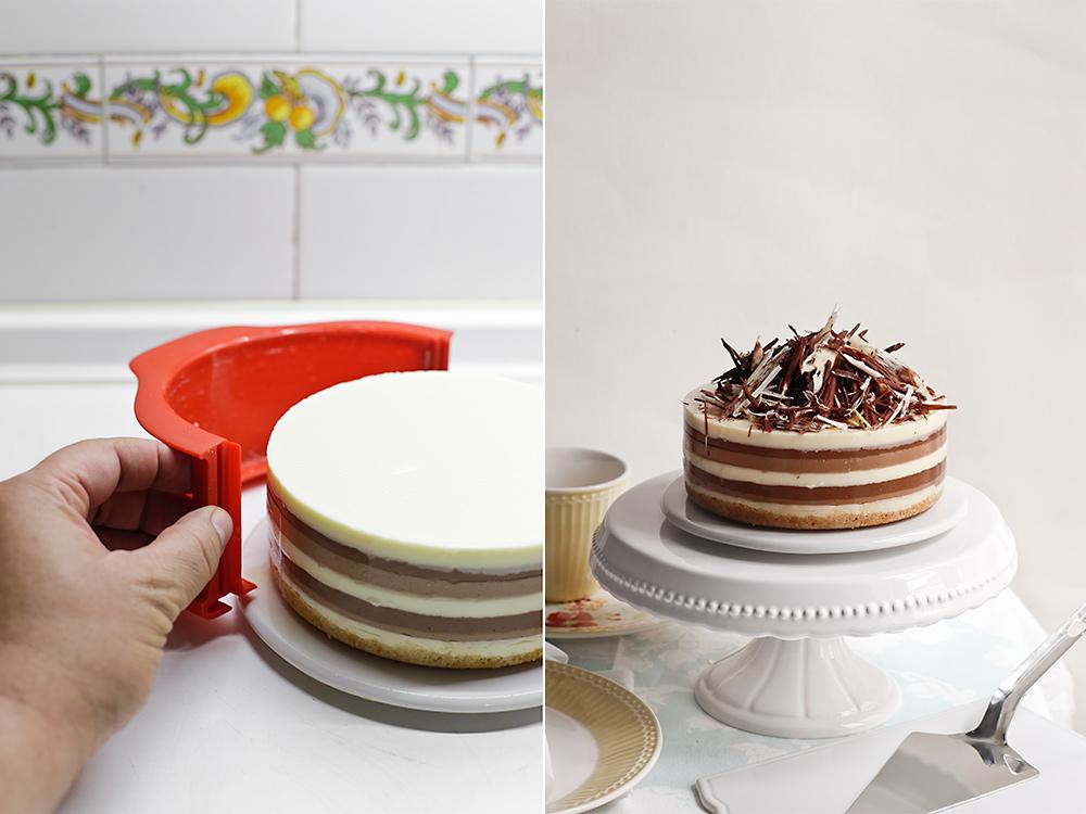 Receta de tarta tres chocolates 10