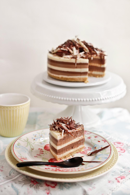Receta de tarta tres chocolates 2