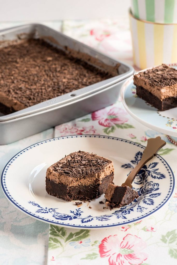 receta brownie mousse chocolate