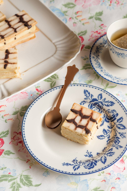 receta milhojas crema