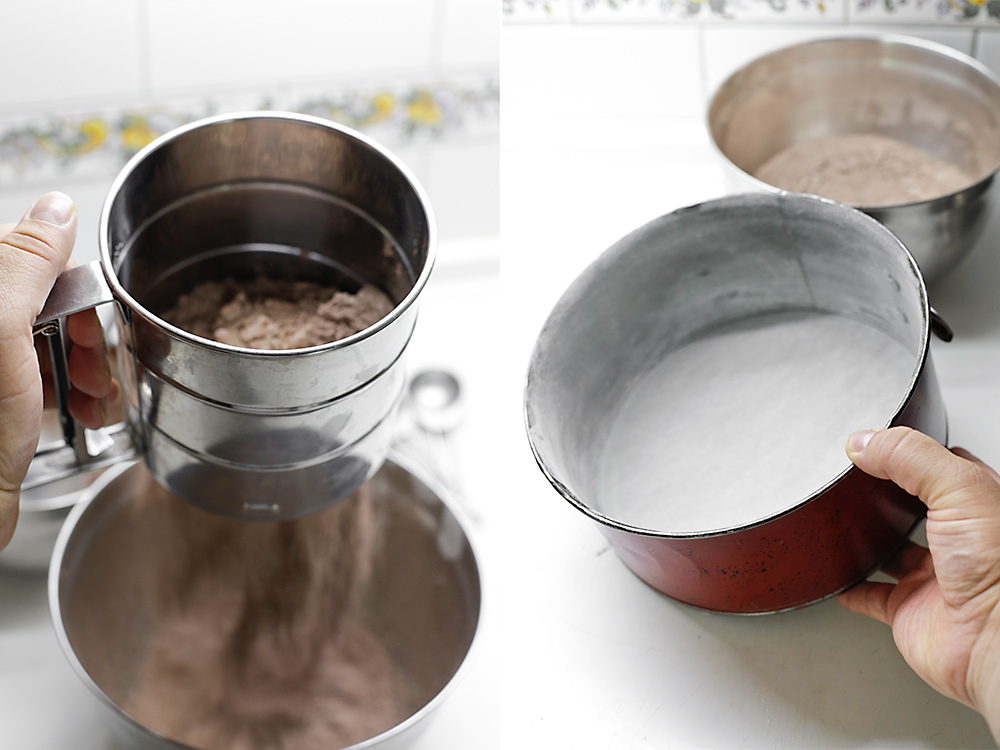 Receta de tarta de chocolate y frambuesa 4