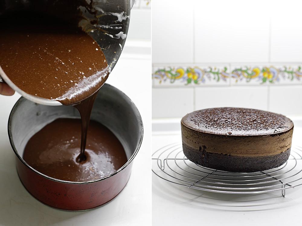 Receta de tarta de chocolate y frambuesa 6