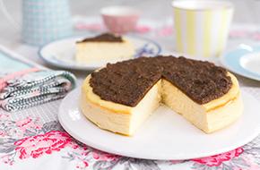 Vídeo-receta en un minuto: Tarta de queso con mermelada de higos