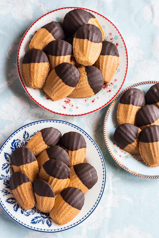 receta madeleines chocoolate
