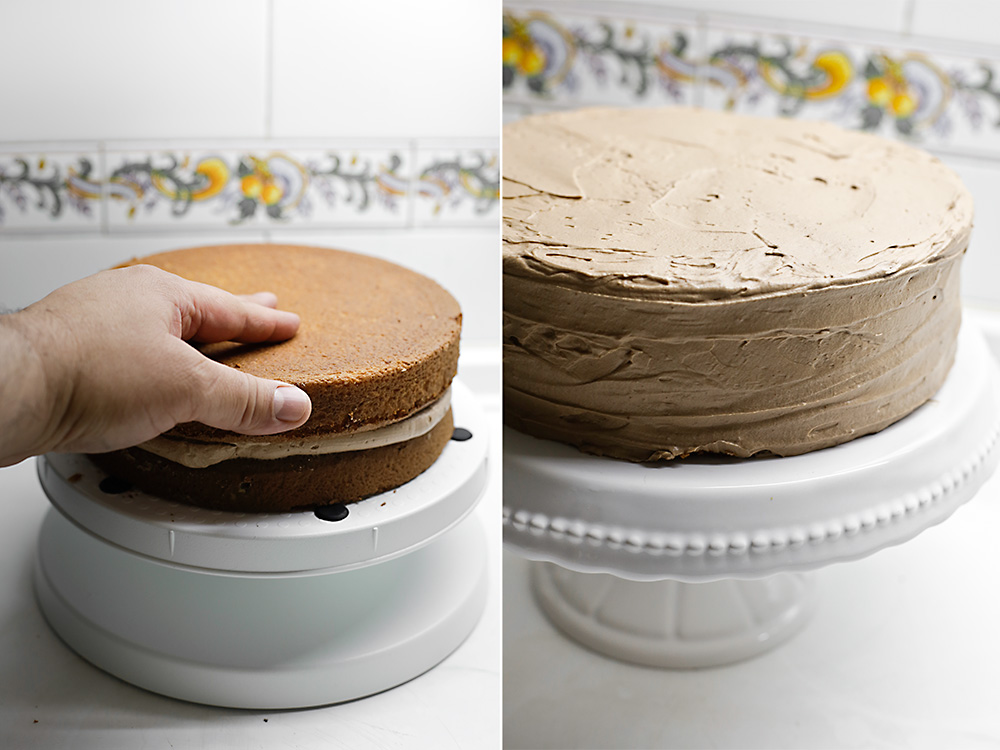 Receta de tarta doble chocolate con Maltesers 10