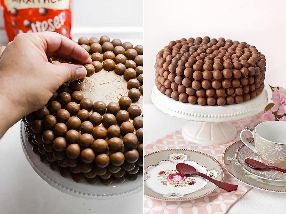 Receta de tarta doble chocolate con Maltesers 11