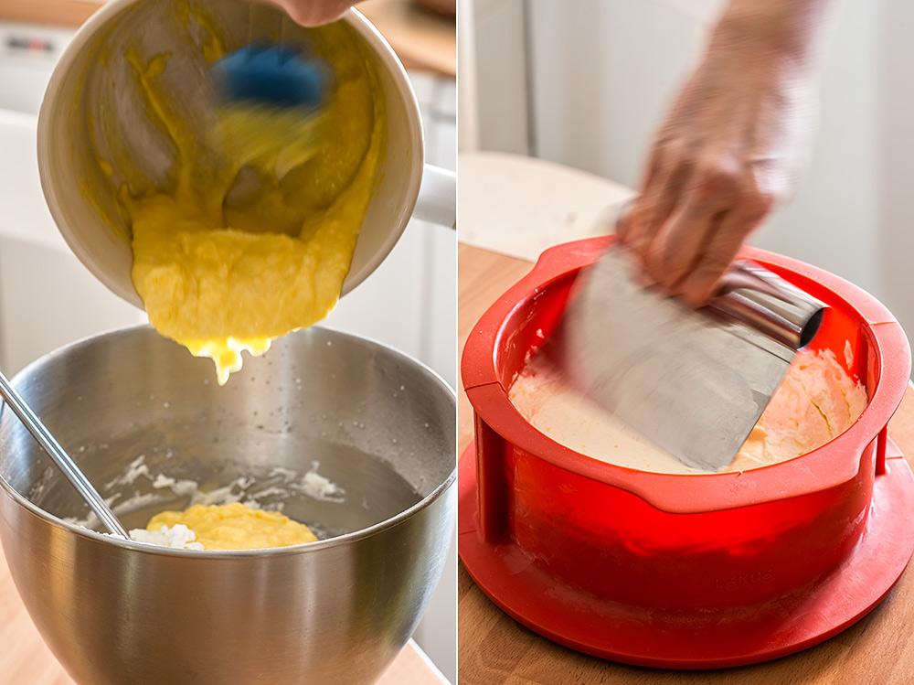 receta tarta mousse limon arandanos