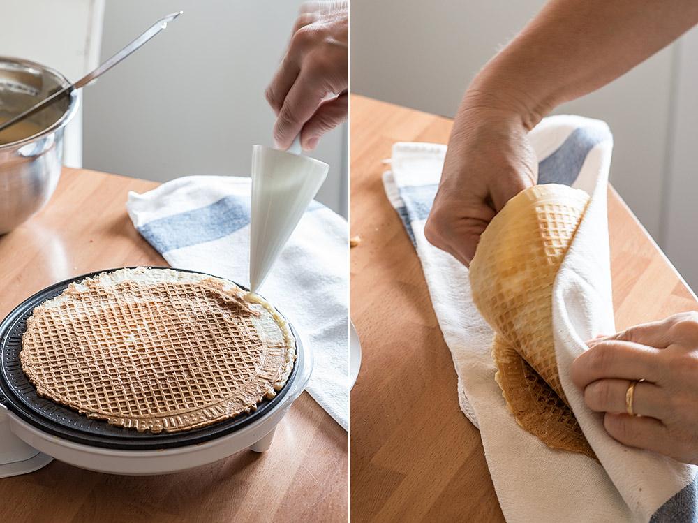 receta barquillos helado