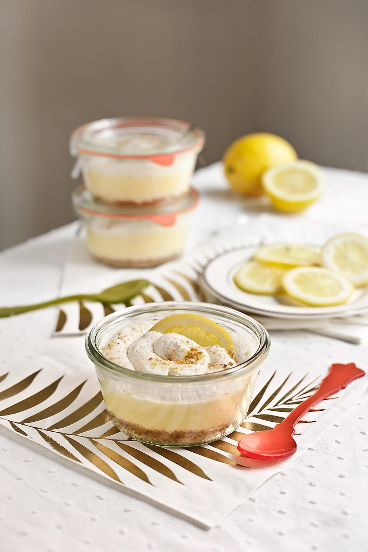 Receta tarros de cheesecake de limón cremoso 1