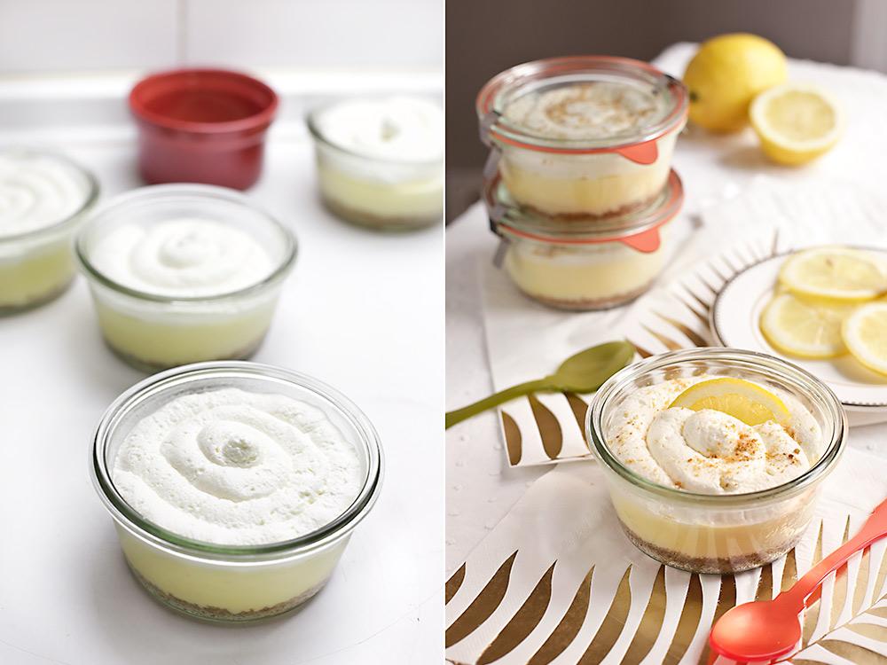 Receta tarros de cheesecake de limón cremoso 8