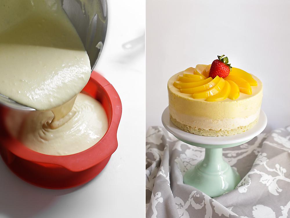 Receta de tarta mousse de melocotón y manzanilla 10