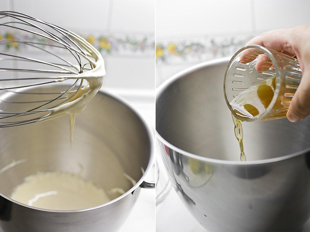 Receta de tarta mousse de melocotón y manzanilla 8
