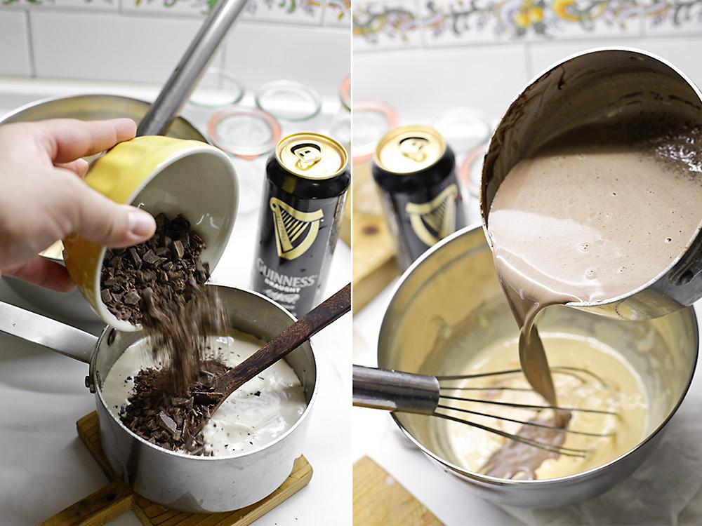 Receta pudín de Guinness y chocolate 5