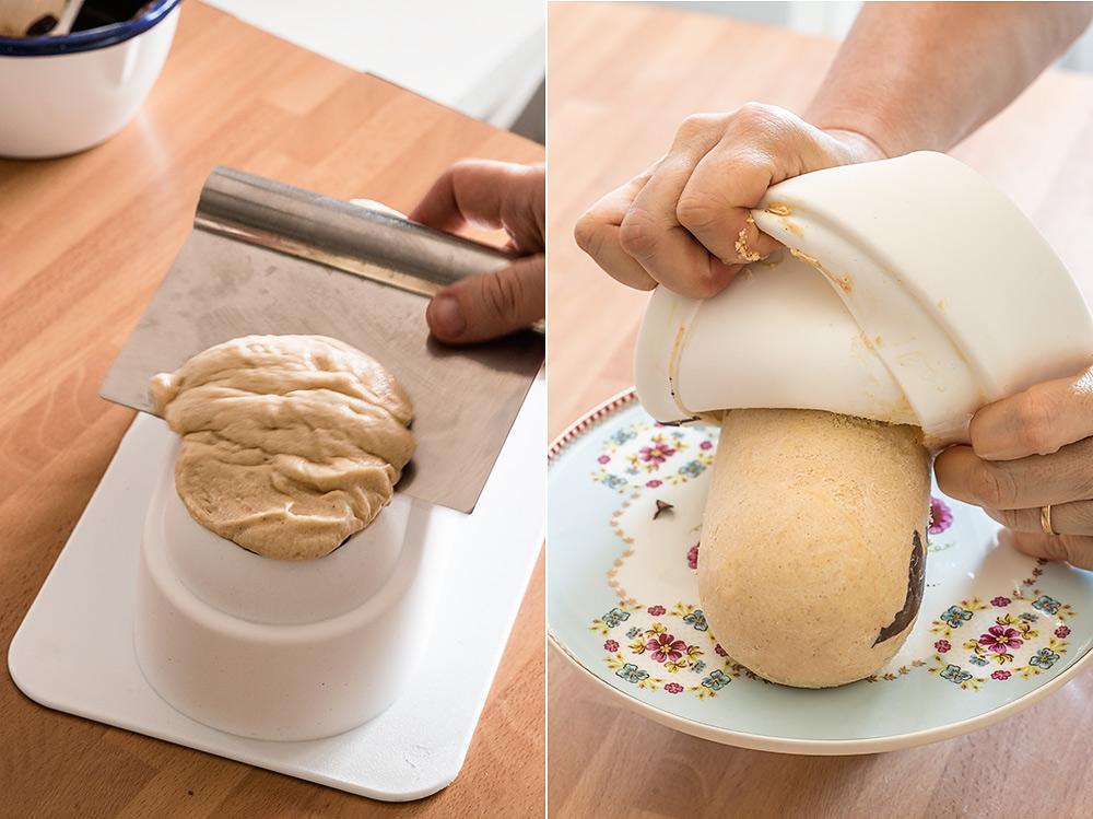 receta semifrio manteca cacahuete chocolate