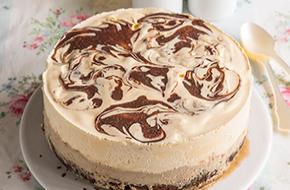 Tarta helada de café y brownie