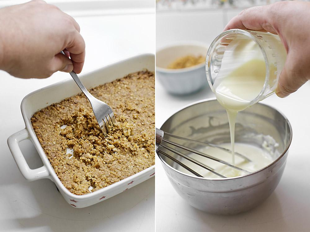 Receta tarta helada de crujiente y caramelo 5