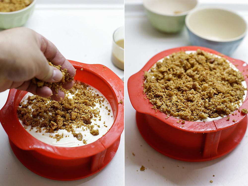 Receta tarta helada de crujiente y caramelo 7
