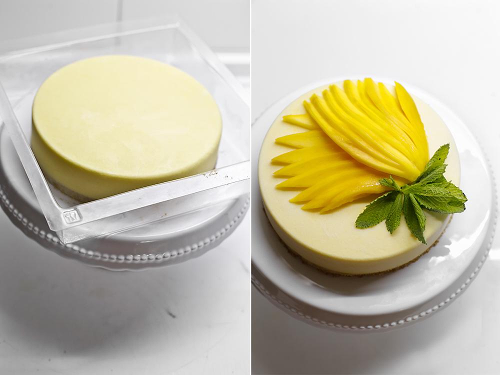 Receta de tarta helada de mango 7