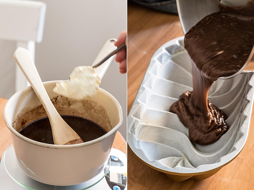 receta bundt cake chocolate crema agria