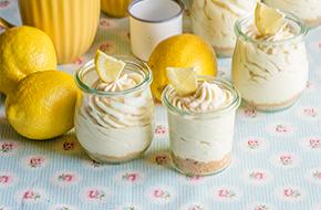 Mousse de cheesecake de limón en vasitos
