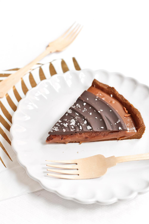 Receta tarta de caramelo con chocolate y sal 2