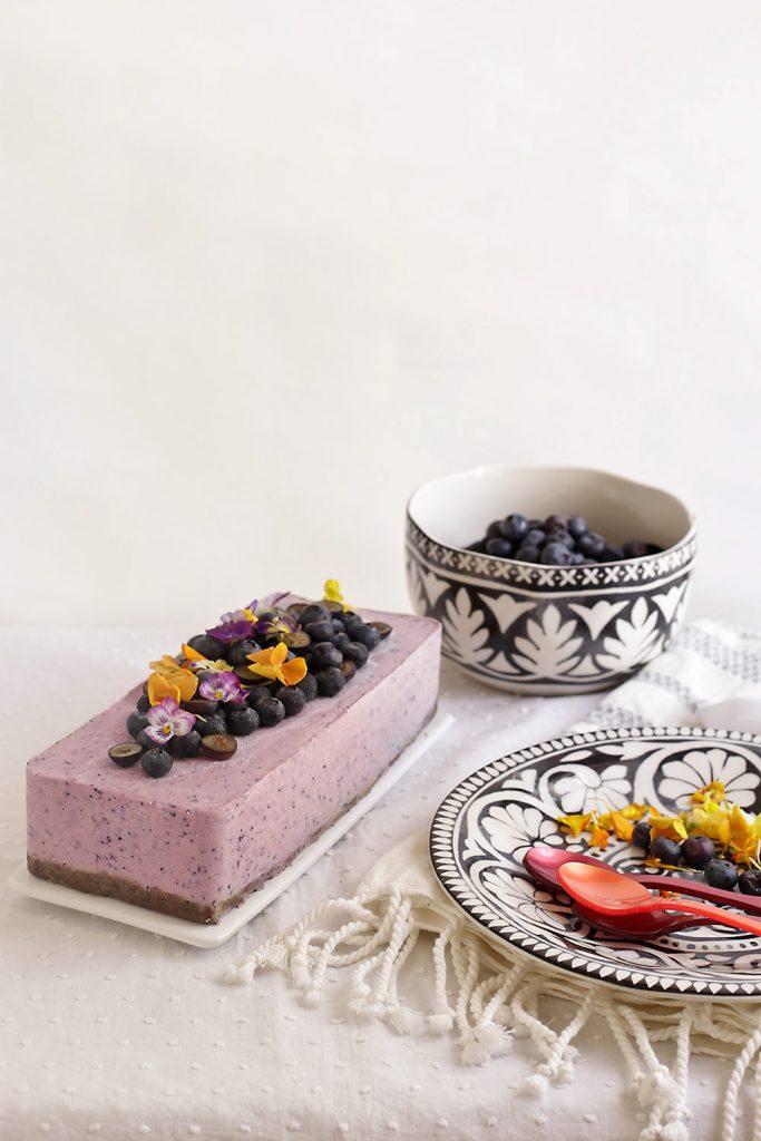 Receta tarta helada de arándanos y anacardos 1