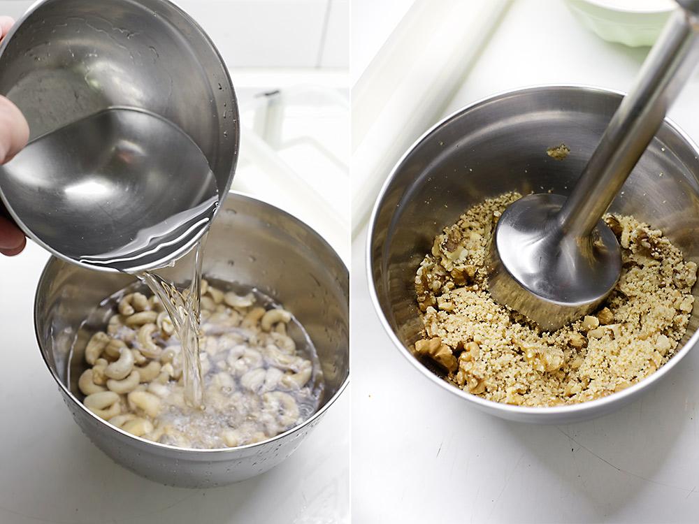 Receta tarta helada de arándanos y anacardos 4
